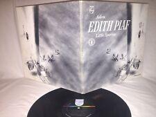 EDITH PIAF - ADIEU - LITTLE SPARROW VINTAGE PHILLIPS RECORDS GATEFOLD LP w BOOK