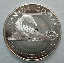 1986 CANADA VANCOUVER CENTENNIAL PROOF SILVER DOLLAR COIN - A