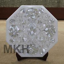 Marble Tile Inlay Pietra Dura Stoneware Handmade Art Craft Home Decor for gift