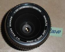MINOLTA MC-ROKKOR MACRO OBJEKTIV; 1:3.5; 50mm, für analoge Kameras (R0010)