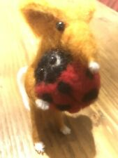 """Little """"Ladybird Pals"""" Felted Mouse, holding their Red Bug Ladybird Friend!"""