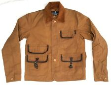 Ralph Lauren SAMPLE COLLECTORS HUNTING JACKET GOLDEN WHEAT W/LEATHER TRIMS SMALL