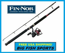 FIN-NOR MEGA LITE 8' Fishing Combo Spinning Rod and Reel NEW! #MLS60802MH