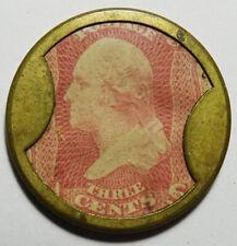 Ayer's Sarsaparilla w/ 3 Cent George Washington Encased Postage Stamp