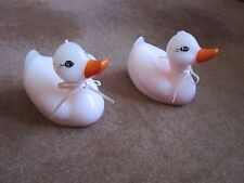 Vintage Duck Candles Pair PINK Rubber Duckie Unused Baby Girl Room Decoration