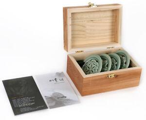 Korean Celadon Small Saucers Set (4PCS) Mint Green Pottery Ceramic Cup Gift