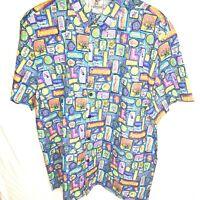 Disney D23 2019 Expo MOG WDI Adventureland Hawaiian Camp Shirt New XL Tiki Room