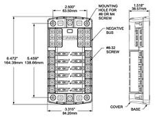 Blue Sea 5026 Blade Fuse Block Holder -Cover Negative Bus Marine 4x4 4WD Caravan