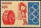 """MONACO N° 1902 """"EMBLEME DU COMITE OLYMPIQUE MONEGASQUE, HALTEROPHILIE""""xxTTB"""
