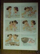 1955 JELL-O Little Twin Girls Egg Beater Cooks Vintage Kitchen Collectible Ad