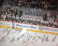 2013 PITTSBURGH PENGUINS TEAM SIGNED 11X14 PHOTO W/PROOF W/COA STANLEY CUP CHAMP