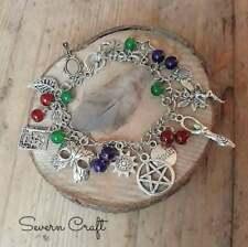 Handmade Wicca charm bracelet litha summer solstice