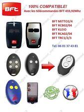 Télécommande clone compatible BFT MITTO2, RCB2, RCA2, TRC2, KLEO, Portail Garage
