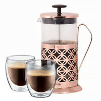 Mr. Coffee Copper 32 Oz. French Press - 6 Cup Coffee / Tea Press Maker