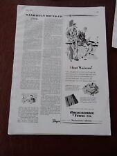 ABERCROMBIE & FITCH   WW2 ! -   FANTASTIC ESQUIRE PAGE  VGC 1941  a
