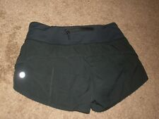 Lululemon Black Run Speed Shorts Size 2