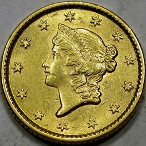 1853 Liberty Head Gold One Dollar Choice BU MS+...Very Flashy with Nice Surfaces