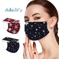 Mund-Nasen-Maske Weihnachten Winter Stoffmaske waschbar wiederverwendbar Adven!!