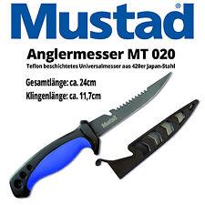 Mustad Anglermesser Ködermesser Messer teflonbeschichtet Gesamtlänge 24cm robust