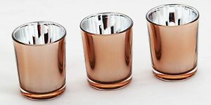 50 Copper Glass Tealight Votive Candle Holder Wedding Party Table Event Decor