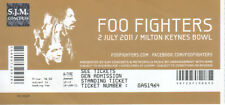 Ticket Stub: Foo Fighters: Milton Keynes Bowl, 02 July 2011