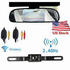 "Wireless Reverse Car Rear View Backup Camera Kit+4.3"" Car TFT LCD Monitor Mirror"