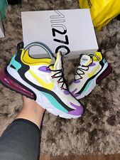 "Nike Air Max 270 React UK 10 ""White/Dynamic Yellow-Black"" EU 45"