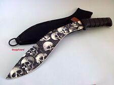 "MTech USA 17"" Grey Skull Kukri,Khukuri,Knife + Sheath MT537GY Survival Machete"