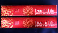 2 x 15g Boxes Balaji TREE OF LIFE Incense Premium Masala Insence Sticks 30 g NEW