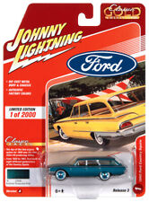 2020 Johnny Lightning *CLASSIC GOLD 3A* Turquoise 1960 Ford Country Squire NIP
