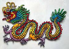 Beautiful Colorful Chinese Dragon Embroidered Iron on Patch Free Shipping
