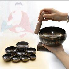 Tibetischer Buddhismus Messing Klangschale Singen Schüssel Hand Gehämmert