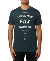 Fox Mens T-Shirt Blue Size 2XL Victory The Moto-X Logo Graphic Tee $25- 091