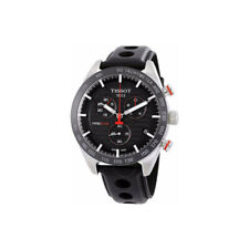 Tissot PRS 516 Chronograph Black Leather Strap Men Watch T100.417.16.051.00