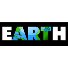 Earth Art Bumper Sticker Car Decal Peace Love Retro Vintage Hippie Globe Coexist
