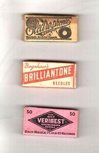 13m.  Three Boxes of Phonograph Needles - Veribest, Brilliantone & Electrophonic