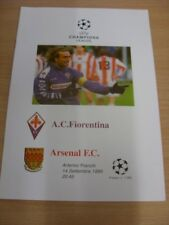 14/09/1999 FIORENTINA V ARSENAL CHAMPIONS LEAGUE [] [EDIZIONE PIRATA]. (eventuali noticabl