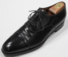* KITON * by Silvano Lattanzi Black Cap-Toe Leather Dress Shoes US 10