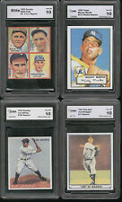 BABE RUTH MICKEY MANTLE HANK AARON WILLIE MAYS LOU GEHRIG JOE DIMAGGIO RC GU LOT