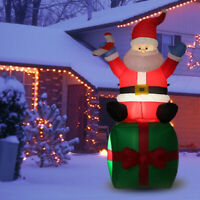 5.5' ft Inflatable Christmas Santa Claus Airblown w/LED Outdoor Yard Decorations