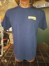 Irwin Industrial Tools navy blue XL t-shirt, National Trades Men Day