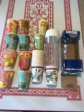 Vintage Dixie Cups And Dispenser 70s Soda Varieties