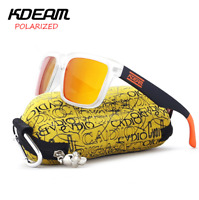 Kdeam Mens Polarized Sunglasses Outdoor Sport Driving Glasses Fashion Glasses