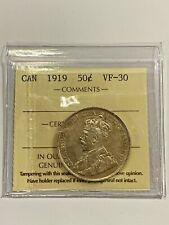 Canada 1919 50 Cent Coin - VF-30