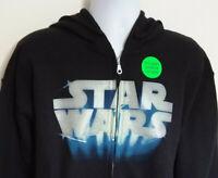 Star Wars Glow In The Dark Black Hoodie Sweatshirt Mens Size L NEW