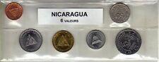 Nicaragua série de 6 pièces de monnaie