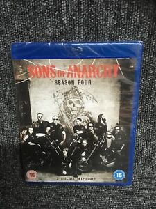 Sons of Anarchy - Series 4 - Complete (Blu-ray, 2012) Fourth Series Four. NEW