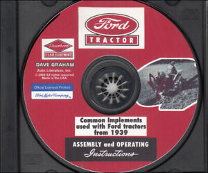 CD 1939-1952 Ford Tractor Dearborn Implement Assembly Operating Manual 2N 8N 9N