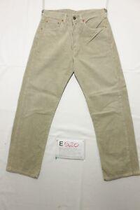 Levi's 551 Velluto (Cod. E520) Tg45 W31 L34 jeans beige ACCORCIATO usato Vintage