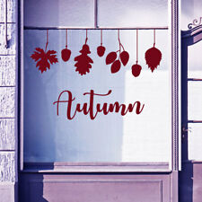 Autumn Retail Sign Greetings Vinyls Shop Window Display Wall Decals Stickers B33